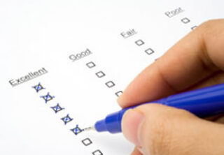 Person completing a survey