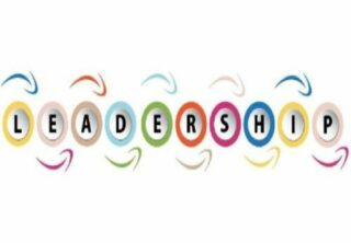 Leadership spelled out in coloured letters